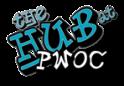 Hub lettering small